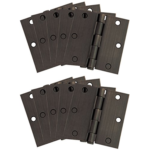 Design House 181503 10-Pack Square Hinge 3.5