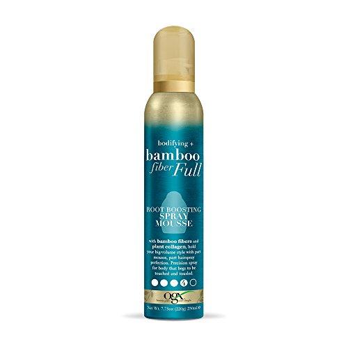 (OGX Bodifying + Bamboo Fiber-Full Body Boosting Spray Mousse, 7.75 Ounce)