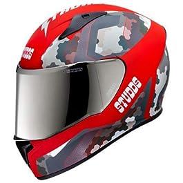 Studds Thunder D5 (M/Visor) Matt Red, N2-Red