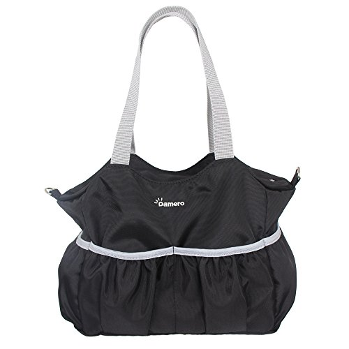 Tote Organizer Bag Pouch with Multiple Pockets and Stroller Straps (Black) ()