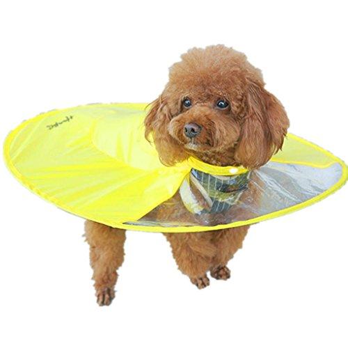 Price comparison product image Clearance Raincoat, Dog Novelty Raincoat Waterproof UFO Cloak Umbrella All-Inclusive Pet Poncho (Size: L)