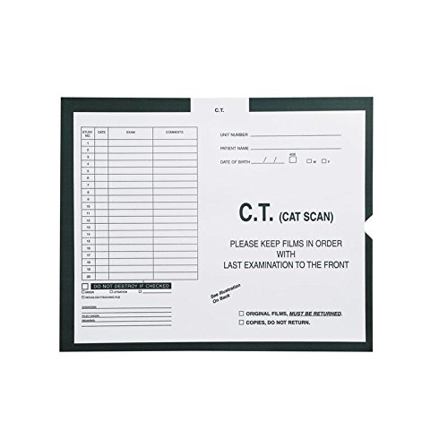 C.T. (Cat Scan), Kelly Green #568 - Category Insert Jackets, System I, Open End - 14-1/4'' x 17-1/2'' (Carton of 250)