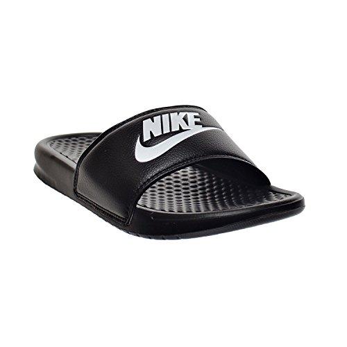 Nike Benassi, Chaussures de Plage et Piscine Homme noir/blanc