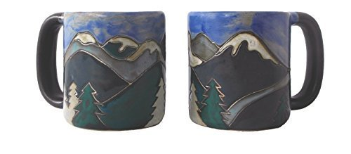 Mara Stoneware Mug - Snowy Mountains - 16 oz