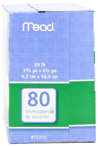 043100752127 - Mead #6 3/4 Security Envelopes, 80 Count (75212) carousel main 4
