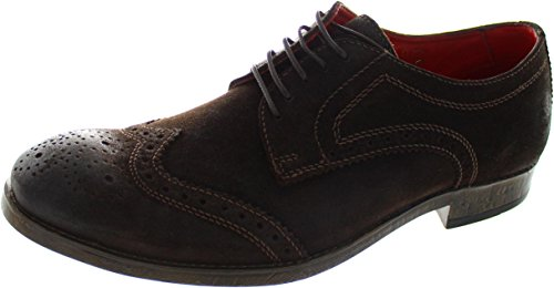 London Scarpe Uomo Base Coniston Stringate Brown 0dWUE4