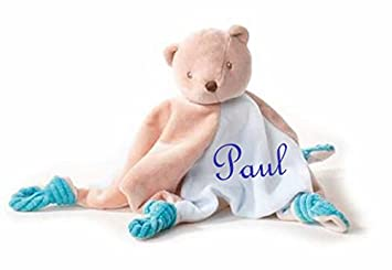 Baby Kuscheltuch Teddy mit Namen bestickt Geschenk Baby Taufe Geburt