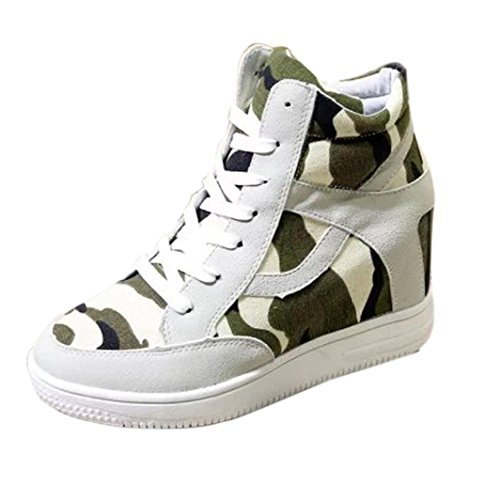 Canvas Boot Height Beige Shoes Increased Shoes Casual Ladies Inkach High Top Womens ZqnSF4wZxR