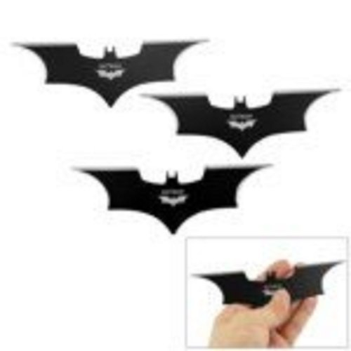 Small Size Metal Batman Shape Flying Cutter for Target Board Throwing(Black)