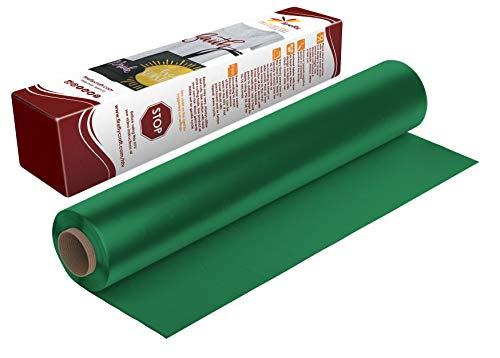 Firefly Craft Regular Green Heat Transfer Vinyl | Green HTV Vinyl | Green Iron On Vinyl for Cricut and Silhouette | Heat Press Vinyl for Shirts - 12 x 20