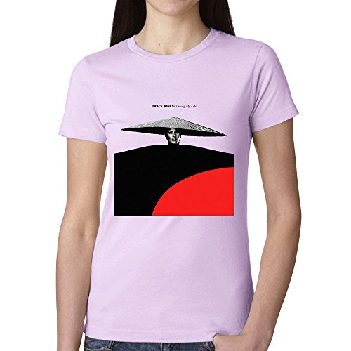 Grace Jones Living My Life Woman's T Shirt Pink