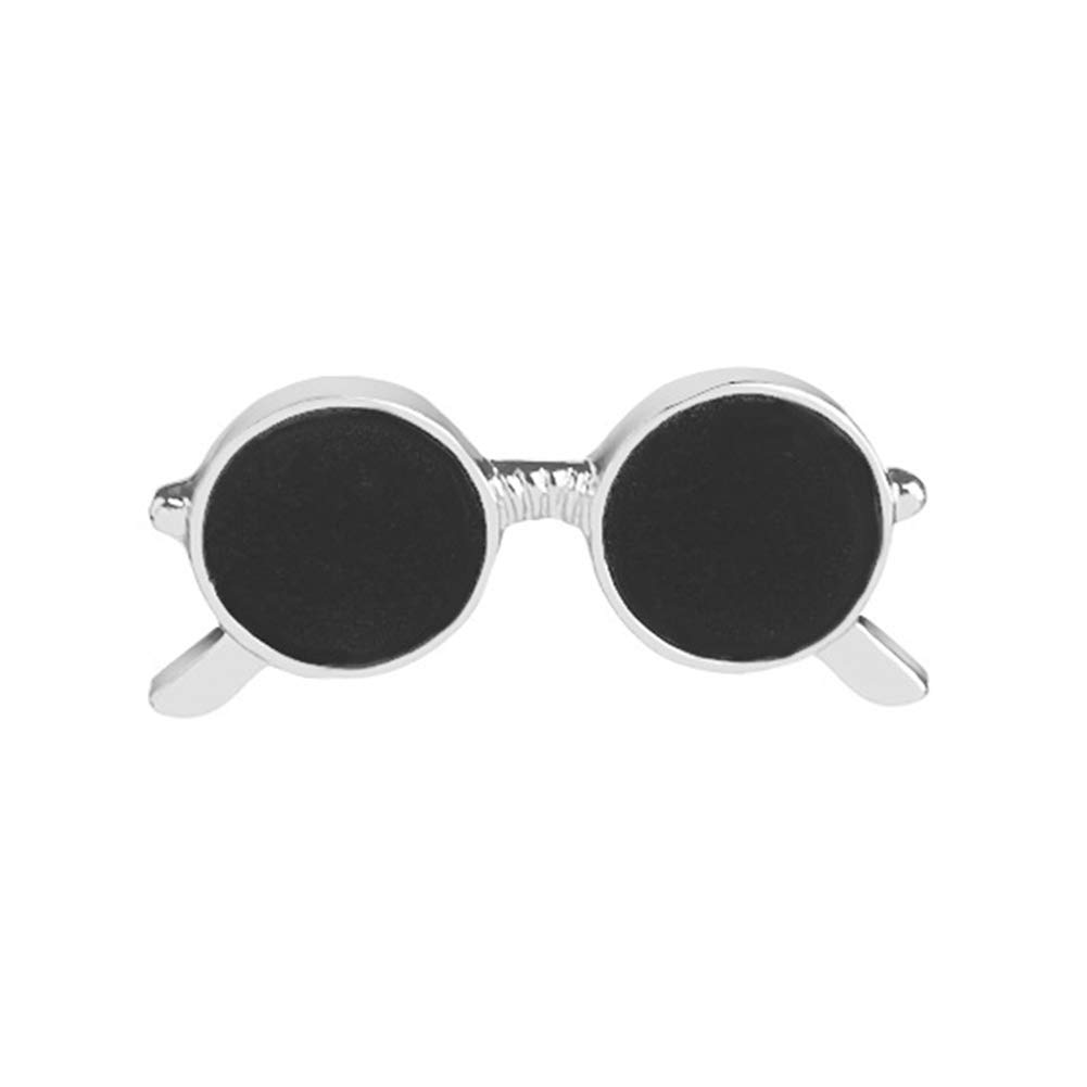 856store Sunglasses Men's Badge Brooch Pin Lapel Pin Bag Shirt Suit Wedding Groom Gift Silver