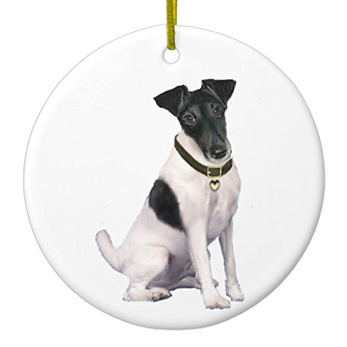 Zazzle Fox Terrier (a) - Smooth - Black-white Metal Ornament (Black Fox Terrier Ornaments)