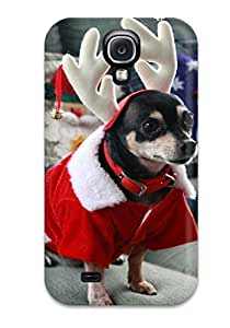 Hot Protection Case For Galaxy S4 / Case Cover For Galaxy(scooter Santa Reindeer...) 8382651K32042177