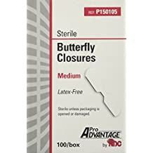 ProAdvantage Sterile Butterfly Closure Bandages, Medium, Latex-free, 100/bx