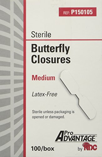 ProAdvantage Sterile Butterfly Closure Bandages, Medium, Latex-Free, 100/bx ()