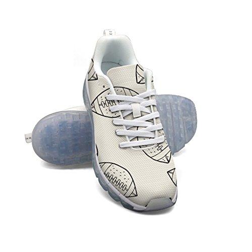 Modello Da Football Americano Da Uomo Moda Leggero In Mesh A Cuscino Daria, Sneakers Da Basket
