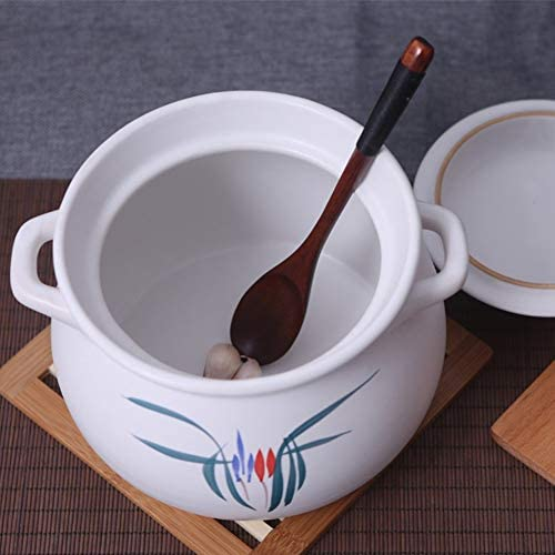 WZF Casserole Pot en Porcelaine Pot à Soupe Pot de santé Blanc 4.5L