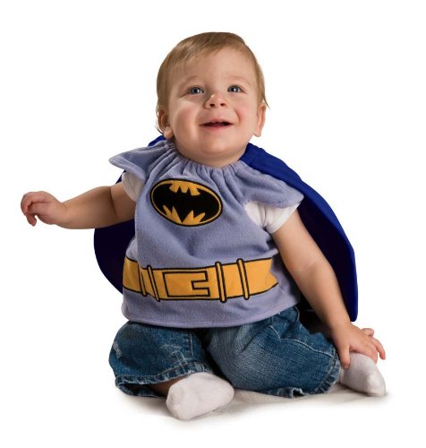 Batman Zero Year Costume (Batman The Brave And The Bold Deluxe Bib, Batman Print, Newborn (0-9 Months) Costume)