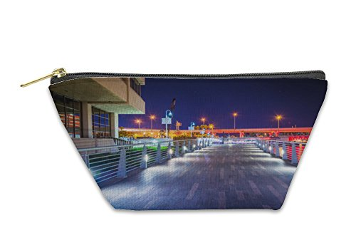 Gear New Accessory Zipper Pouch, The Riverwalk At Night In Tampa Florida, Large, - Shops At Riverwalk The