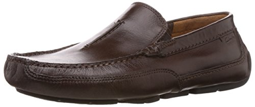 Clarks Ashmont Race, Mocasines para Hombre Marrón (brown Leather)