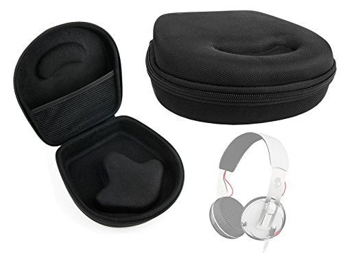 DURAGADGET Hard Shell EVA Headphone Case (Black) - Suitable for The Skullcandy Grind Headphones - with Internal Netted Accessories Pocket