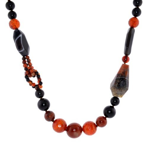 Natural Carnelian Black Onyx Red Agate Gemstone 19