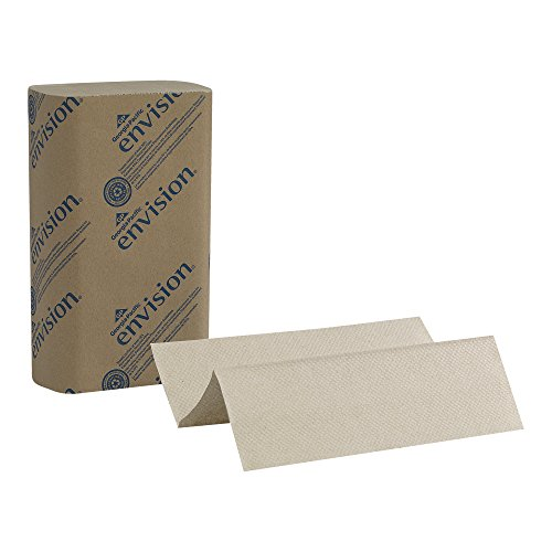 Georgia Pacific Envision 23304 Brown Multifold Paper Towel   Wxl  9 2  X 9 4   Case Of 16 Packs  250 Towels Per Pack