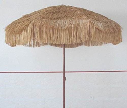 Impact Canopy Hawaiian Tiki Umbrella for Pool, Patio, or Beach, 8 Feet