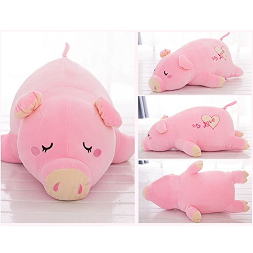 Yiphates Cute Soft Plush Piggy Doll Toy Stuffed Pink Pig Animal Pillow, Gift for Kids, Friends ()