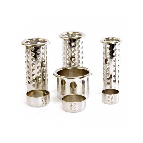 POJJO - Stainless Steel Ventilated & Capped Tube Insert Holder (Ventilated Metal)