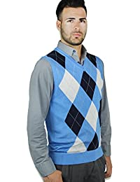 Blue Ocean Argyle Sweater Vest