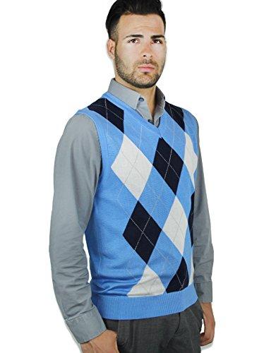 Blue Ocean Argyle Sweater Vest-3X-Large -