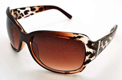VOX Trendy Classic Womens Hot Fashion Sunglasses w/FREE Microfiber Pouch - Brown Cheetah Frame - Brown - Cheetah Frames Glasses