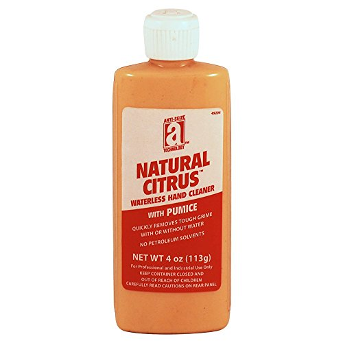 anti-seize-technology-49204-natural-citrus-waterless-hand-cleaner-with-pumice-4-oz-squeeze-tube-ligh