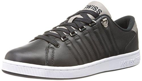 (K-Swiss Men's Lozan Fashion Sneaker,Black/Driftwood/White,10.5 M US)