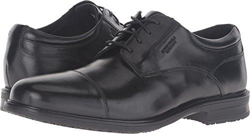 Rockport Men's Essential Details II Cap Toe Oxford,Black Leather,US 16 ()