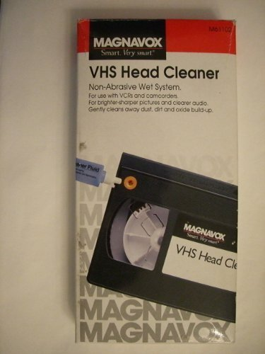 (Magnavox M61102 VHS Non-Abrasive Wet Head Cleaning Tape System)