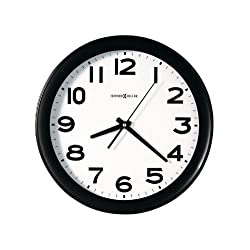 Howard Miller 625485 Kenwick Wall Clock, 13-1/2-Inch, Black