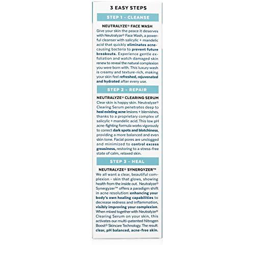 Neutralyze Moderate To Severe Acne Treatment Kit (30 Day) - Maximum Strength Anti Acne Medication With Salicylic Acid + Mandelic Acid + Nitrogen Boost Skincare Technology