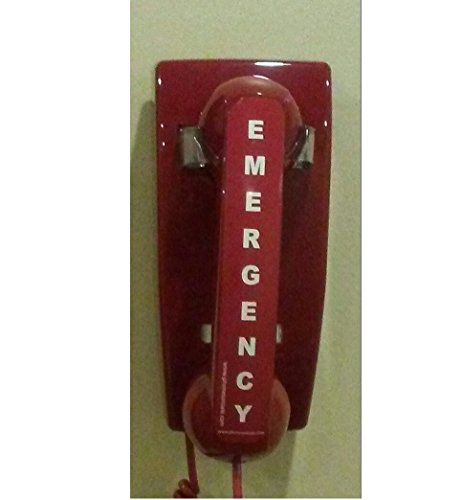 Emergency Red Wall Telephone Preprogrammed To 911
