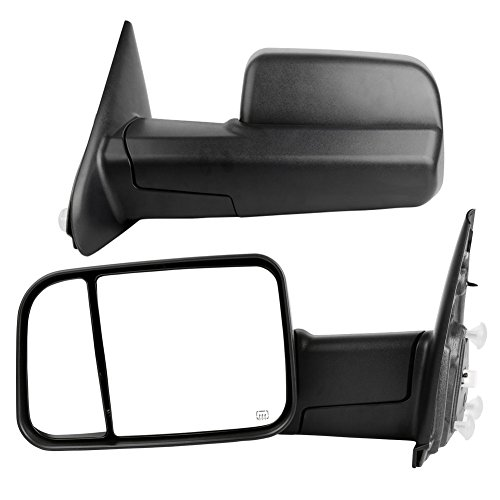 YITAMOTOR Towing Mirrors for 02-08 Dodge Ram 1500 2003-2009 Ram 2500 3500 Pickup LH & RH Manual Fli-Up Power Heated Side Mirrors (Ram 2500 Mirror Lh Driver)