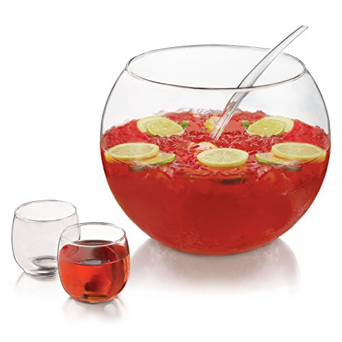 Punch Bowl And Ladle - Libbey Selene 10-piece Punch Bowl Set