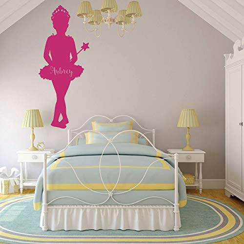 (BYRON HOYLE Ballerina Wall Decal - Princess - for Girls or Teenager's Bedroom and Classic Dance Studio Decor)