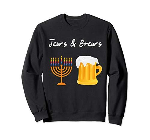 Jews And Brews Jewish Beer Drinking Sweatshirt (Jew Brew Beer)