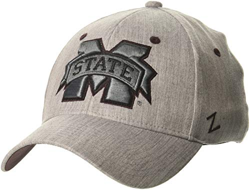 Mississippi State Cap - Zephyr NCAA Mississippi State Bulldogs Mens Tailoredtailored Stretch Cap, Grey, Medium/Large