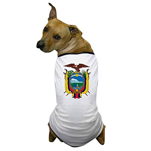 CafePress - Ecuador Coat of Arms Dog T-Shirt - Dog T-Shirt, Pet Clothing, Funny Dog Costume - Ecuador Coat