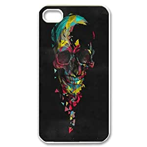 Broken On Behance Colorful Skull For HTC One M9 Case Cover , Cute Girly & Cheap For HTC One M9 Case Cover {White}