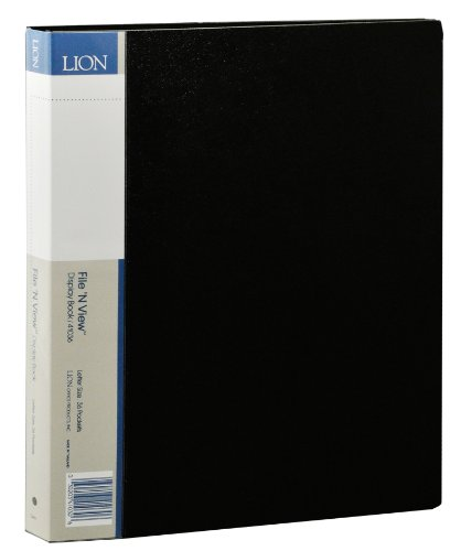 Lion File-N-View Presentation Display Book, 36-Pocket, Black, 1 Book (41036-BK) by Lion