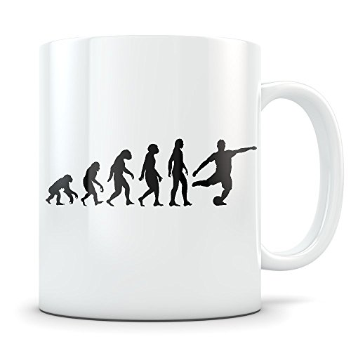 (Soccer Player Mug for Men - Coffee Cup for European Football Enthusiast - Best Soccer Gift Idea - Funny Evolution Gifts )